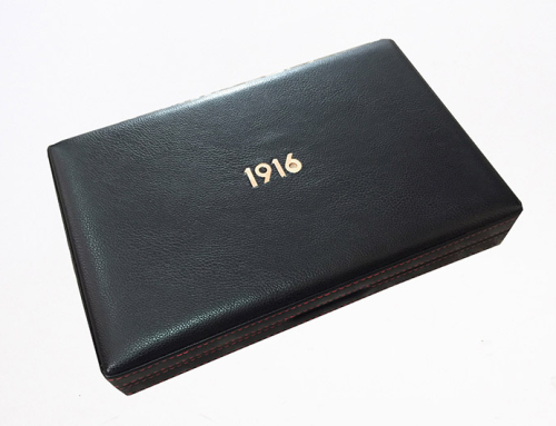 1916 Leather Cigar Travel Humidor Box
