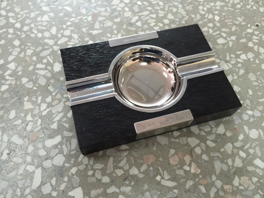 Wood & Metal Ashtray