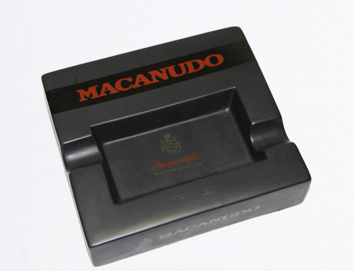 Macanudo Black Ceramic Ashtray