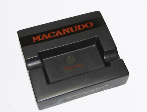 Macanudo Black Ceramic Ashtray